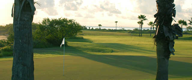 A view of a green at South Padre Island Golf Club