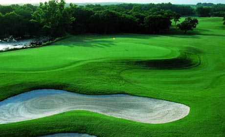 A view of a green at Buffalo Creek Golf Club