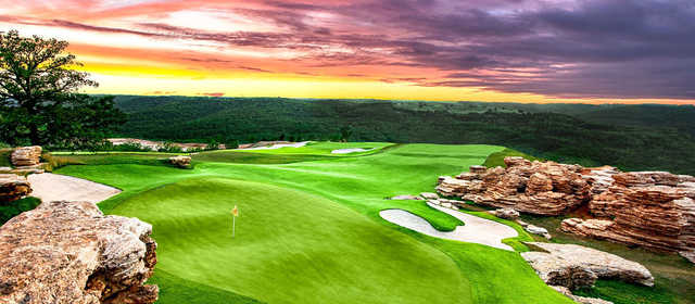 View of a green from the Mountain Top Course at Big Cedar Lodge