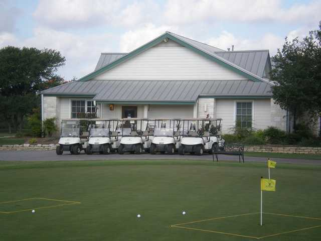 A view of the putting green at SilverHorn Golf Club of Texas