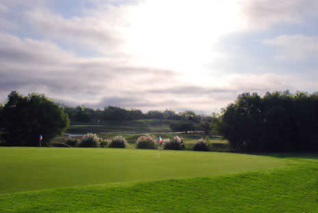 A view of the practice putting green from The Golf Club of Texas
