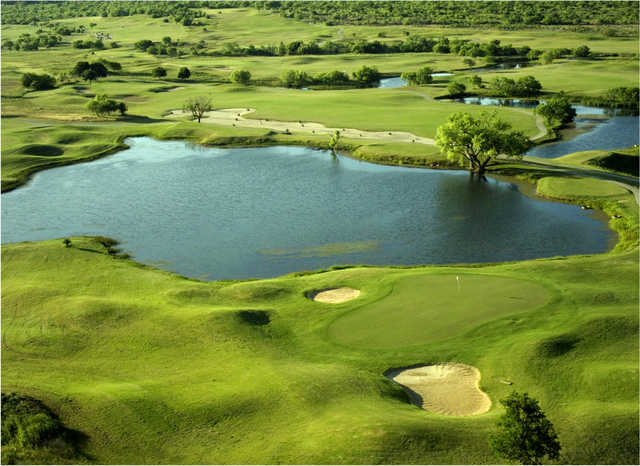 Aerial view from The Golf Club of Texas