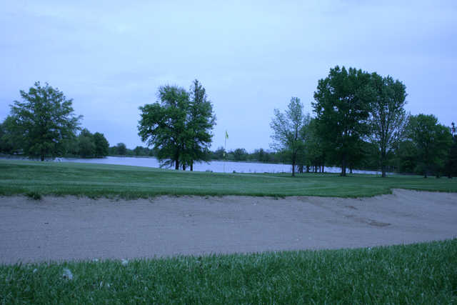 A view of a green at Mosswood Meadows Golf Course.