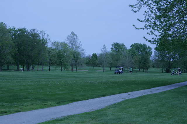 A view of a fairway at Mosswood Meadows Golf Course.