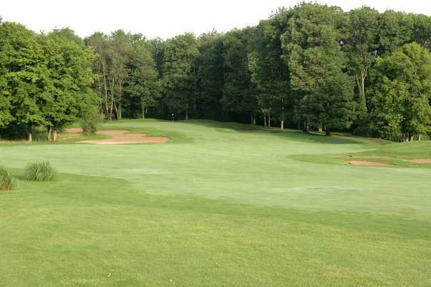 A view of the 16th green at Wood Wind Golf Club