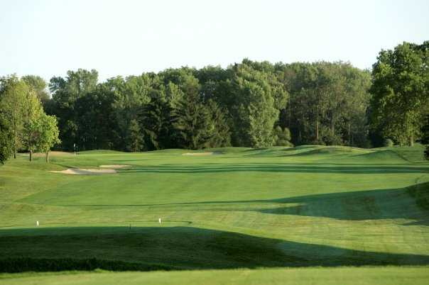 A view of hole #1 at Wood Wind Golf Club