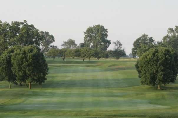 A view of green #3 at Wood Wind Golf Club
