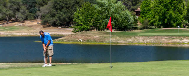A view of two holes at Yosemite Lakes Park Golf Course.