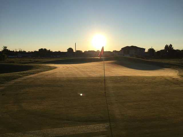 Morning view of a green at Old Drovers Run Golf