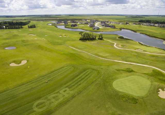 Aerial view from Old Drovers Run Golf