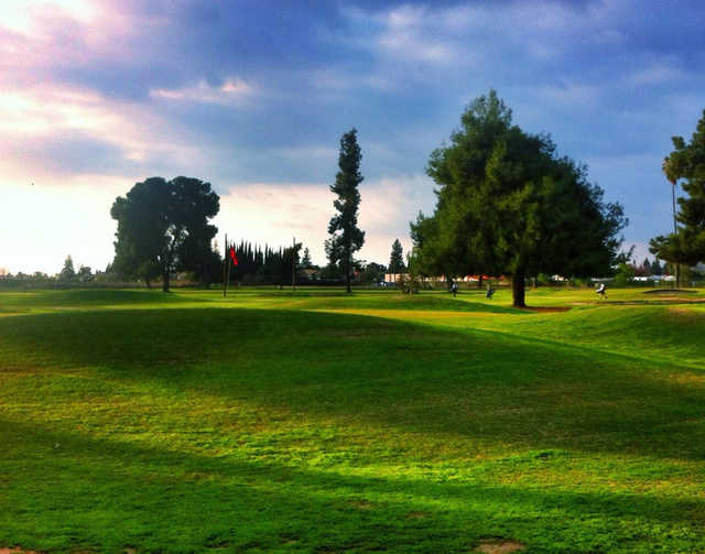 A view of a hole at Exeter Golf Course.