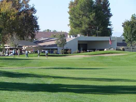 A view of a green at Silver Lakes Country Club.