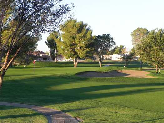 A view of a hole at Silver Lakes Country Club.