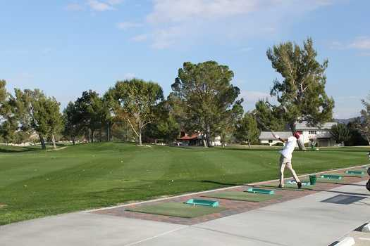 A view of the driving range at Silver Lakes Country Club.