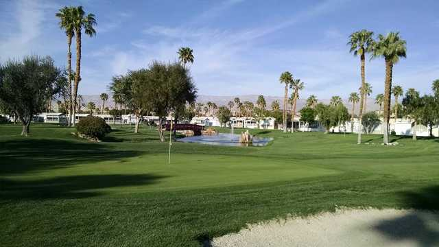 A view of a green at Rancho Casa Blanca Country Club.