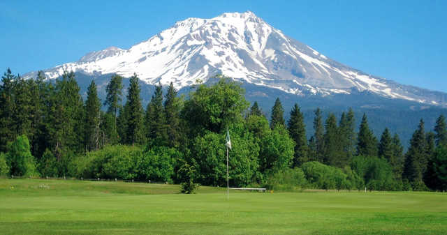 A view of a hole at McCloud Golf Club.