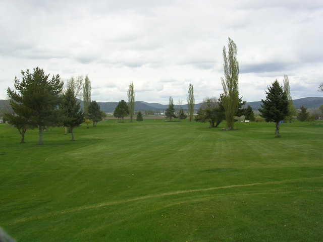 A view of a fairway at Indian Camp Golf Course.