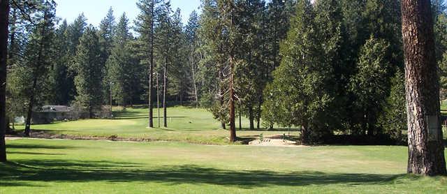 A view of the 3rd green at Twain Harte Golf Club.