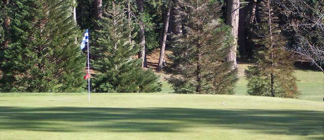 A view of hole #6 at Twain Harte Golf Club.