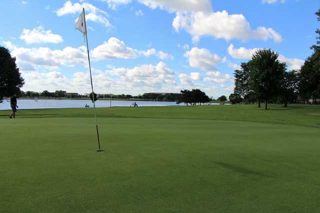 View from a green at Lake Park Golf Course