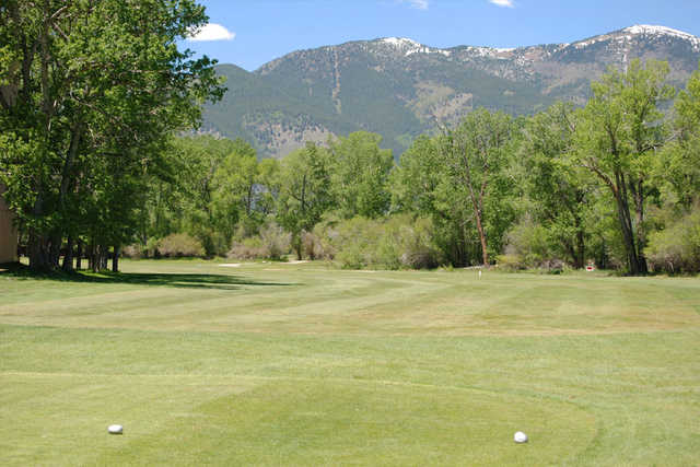 A view from tee #1 at Collegiate Peaks Golf Course.