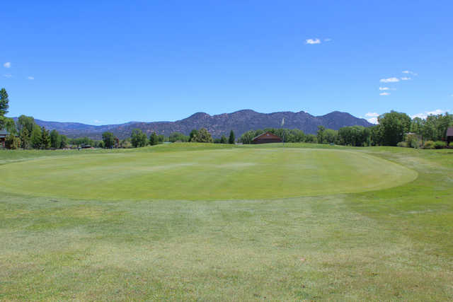 A view of thehole #4 at Collegiate Peaks Golf Course.