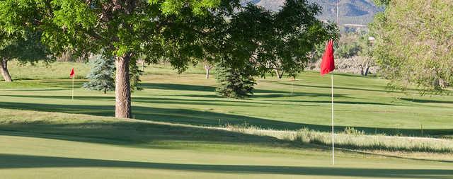 A view of three holes at Conquistador Golf Course.