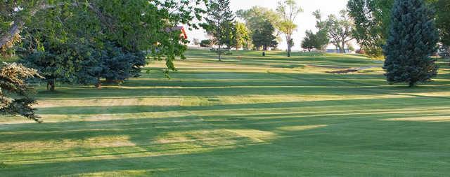 A view of a fairway at Conquistador Golf Course.