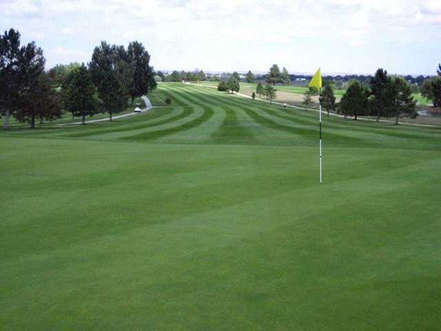 A view of a green at Tamarack Golf Course (Town of Limon, CO).