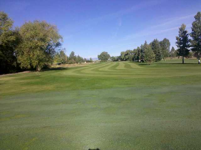 A view of fairway #7 at Monte Vista Country Club.