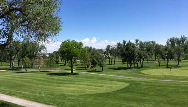 A view of a tee at Pueblo Country Club.