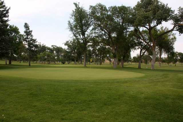 A view of a green at Pueblo Country Club.