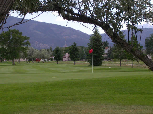 A view of hole #4 at Salida Golf Club.