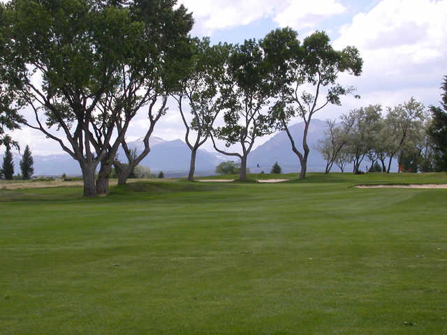 A view of the 6th green at Salida Golf Club.