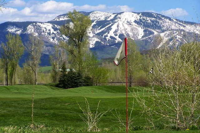 A view from a green at Steamboat Golf Club.