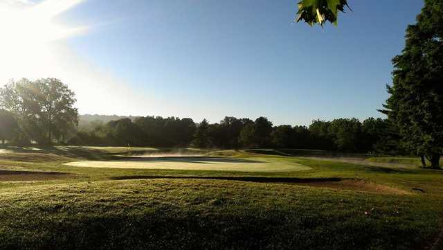 A view of a green at Pomperaug Golf Club.