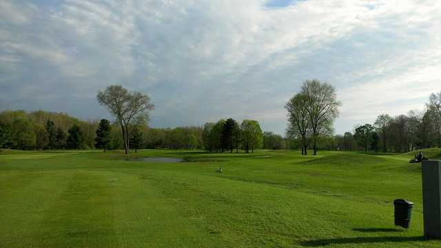 A view from a tee at Pomperaug Golf Club.