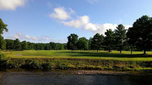 A view over the water from Pomperaug Golf Club.