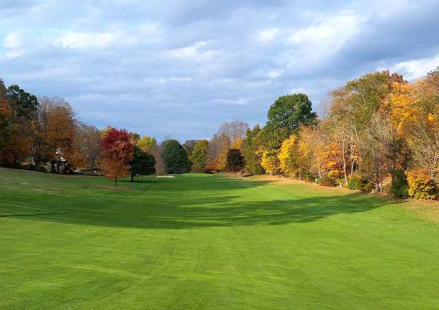 A view of fairway #2 at Heritage Village Country Club.
