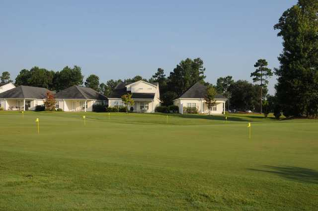 A view of the putting green at Pinecrest Golf Club
