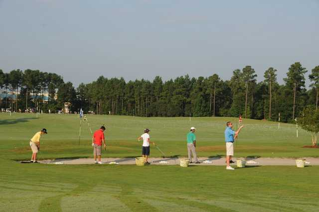 A view of the practice area at Pinecrest Golf Club