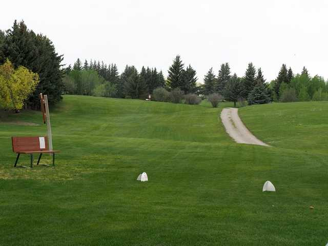 A view from the 4th tee at Yellowstone Golf Resort from Aspen Acres RV Park
