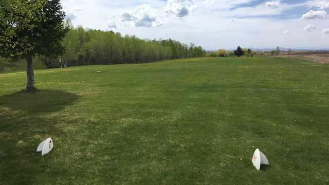 A view from tee #6 at Yellowstone Golf Resort from Aspen Acres RV Park