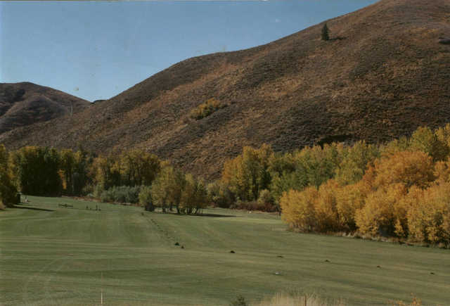 A fall day view from Soldier Mountain Ranch & Resort.