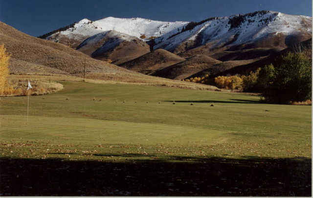 A view of a green at Soldier Mountain Ranch & Resort.