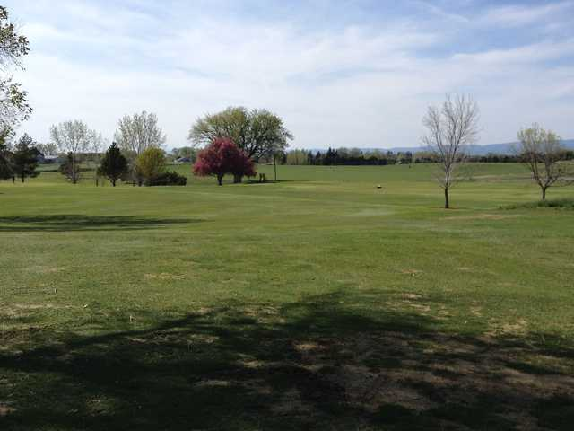 A sunny day view from Gooding Golf Course.
