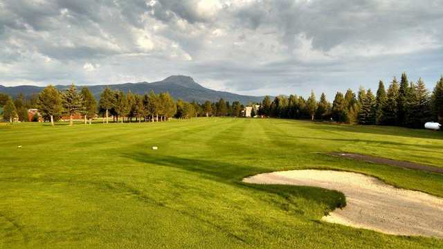 A view of a tee at Island Park Village Resort.