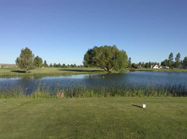 A view from a tee at Pleasant Valley Golf Course.