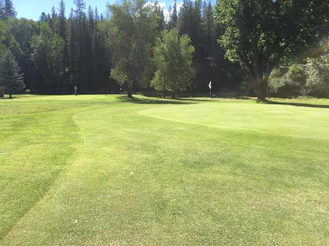 A view of green #8 at Pinehurst Golf Club.
