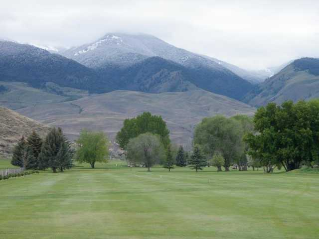A view from a fairway at Salmon Valley Golf Course.